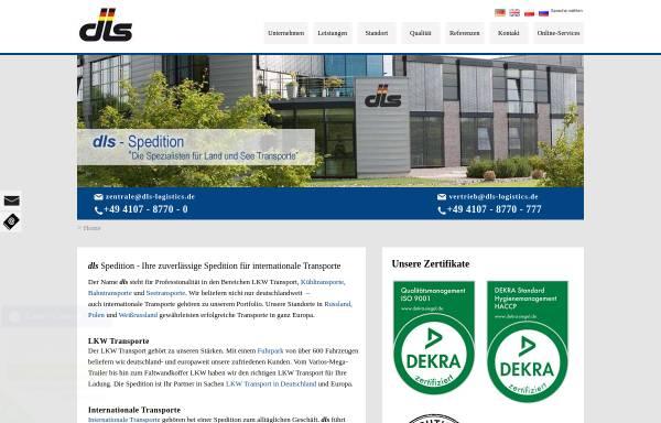 Vorschau von www.dls-logistics.de, dls Land und See Speditionsgesellschaft mbH