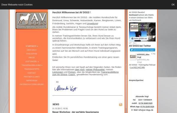 Vorschau von www.av-dogs.de, AV DOGS