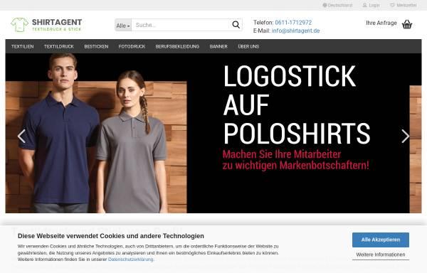 Vorschau von www.shirtagent.de, Shirtagent - Textildruck & Stick