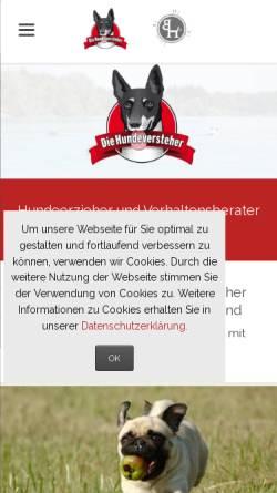 Vorschau der mobilen Webseite www.diehundeversteher.de, Die Hundeversteher