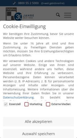 Vorschau der mobilen Webseite www.delphos.de, Delphos Alarm & Service GmbH