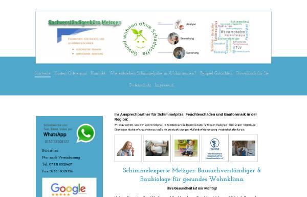 Vorschau von www.gutachter-metzger.de, Baubiologisches Sachverständigenbüro Hans Metzger