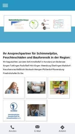 Vorschau der mobilen Webseite www.gutachter-metzger.de, Baubiologisches Sachverständigenbüro Hans Metzger