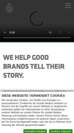 Vorschau der mobilen Webseite www.die-faktur.de, Faktur GmbH