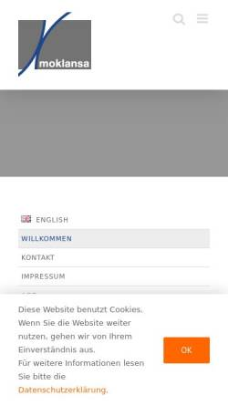 Vorschau der mobilen Webseite www.moklansa.de, Moklansa GmbH