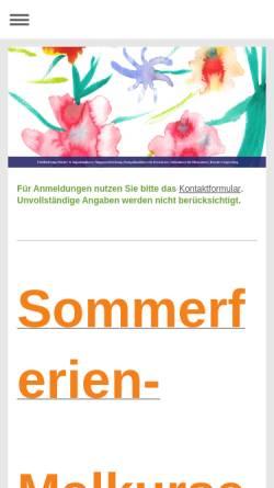 Vorschau der mobilen Webseite www.malschule-friedenau.de, Malschule Friedenau