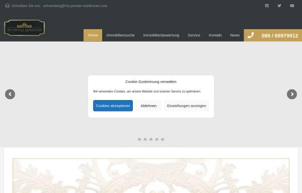 Vorschau von my-private-residences.com, My Private Residences GmbH & Co.KG