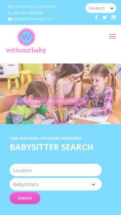 Vorschau der mobilen Webseite www.withourbaby.com, Withourbaby
