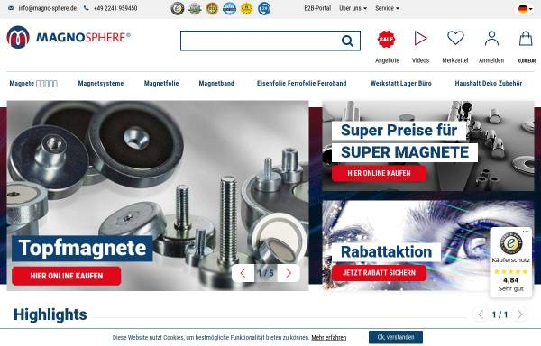 Vorschau von www.magno-sphere.de, Magnosphere GmbH
