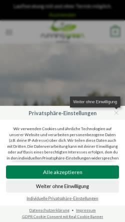 Vorschau der mobilen Webseite www.running-green.de, running green GmbH
