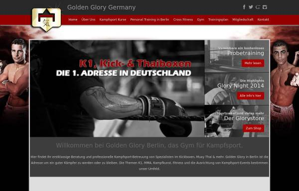Vorschau von www.goldenglory-germany.de, Golden GLory Germany