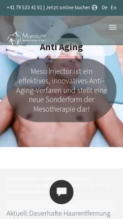Vorschau der mobilen Webseite www.beautyloungeformen.ch, Beauty Lounge For Men