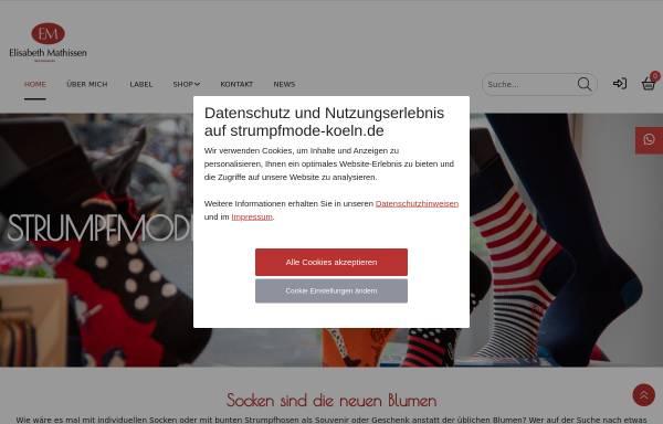 Vorschau von www.strumpfmode-koeln.de, Elisabeth Mathissen, Strumpfmode Köln