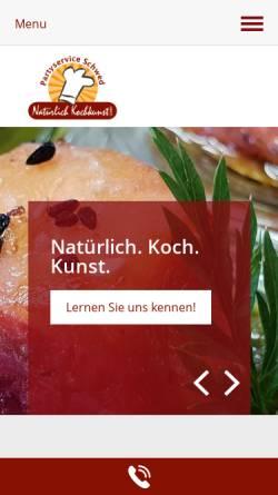 Vorschau der mobilen Webseite www.partyservice-schwed.de, Partyservice Schwed Natürlich Kochkunst GmbH