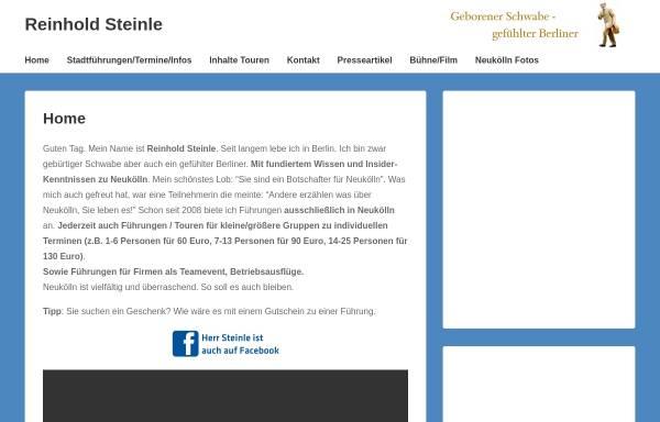 Vorschau von www.reinhold-steinle.de, Reinhold Steinle