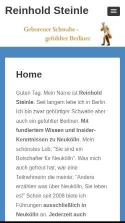 Vorschau der mobilen Webseite www.reinhold-steinle.de, Reinhold Steinle