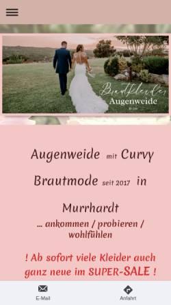 Vorschau der mobilen Webseite www.brautkleider-augenweide.de, Brautkleider Augenweide