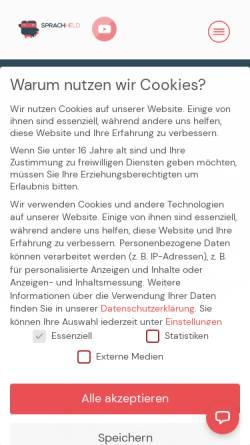 Vorschau der mobilen Webseite www.sprachheld.de, Sprachheld