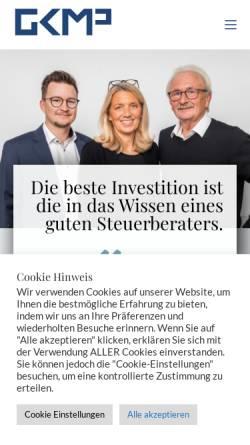 Vorschau der mobilen Webseite www.gkmp.eu, GK-Günter Meyer & Partner GmbH