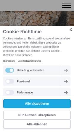 Vorschau der mobilen Webseite www.kaminholz-huelser.de, Kaminholz-Hülser