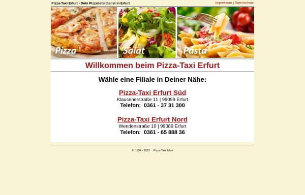 Vorschau von www.pizzataxi-erfurt.de, Pizza-Taxi Erfurt