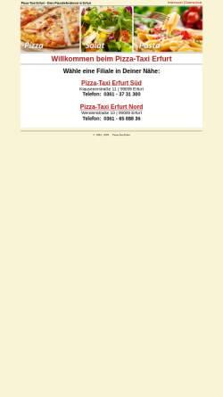Vorschau der mobilen Webseite www.pizzataxi-erfurt.de, Pizza-Taxi Erfurt