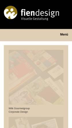 Vorschau der mobilen Webseite www.fien-design.de, Barbara Fien
