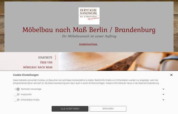 Vorschau von moebel-tischler-berlin.de, Tischlerei Deryckere-Handwerk GbR