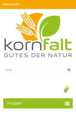 Vorschau der mobilen Webseite www.kornfalt.com, KornFalt