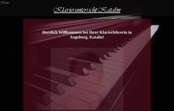 Vorschau von klavierunterricht-katalin.de, Katalin Kovacsne