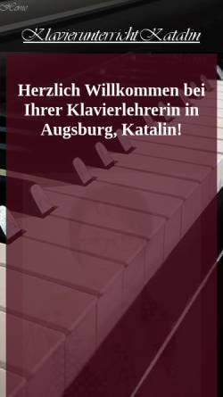 Vorschau der mobilen Webseite www.klavierunterricht-katalin.de, Katalin Kovacsne