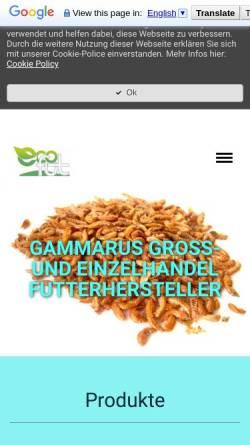 Vorschau der mobilen Webseite www.biofutter-gammarus.com, BR Handel - Bio Futter Gammarus