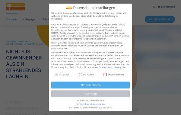Vorschau von www.dr-neuhoeffer.de, Zahnärztliche Praxisklinik Dr. med. dent. Neuhöffer