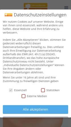 Vorschau der mobilen Webseite www.dr-neuhoeffer.de, Zahnärztliche Praxisklinik Dr. med. dent. Neuhöffer