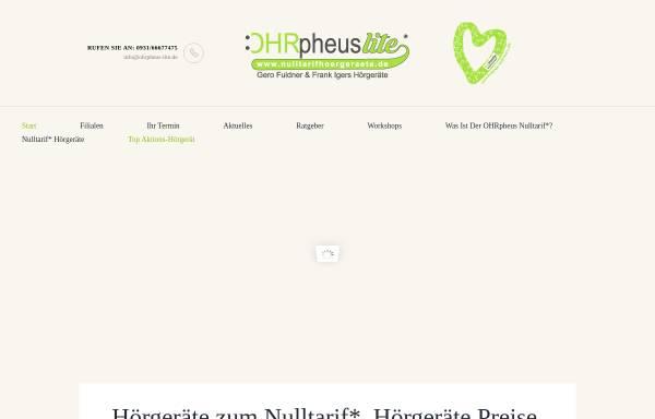 Vorschau von nulltarifhoergeraete.de, OHRpheus lite Gero Fuldner & Frank Igers Hörgeräte GbR