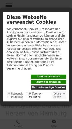 Vorschau der mobilen Webseite www.gregor-specht.de, Psychologische Praxis Gregor Specht