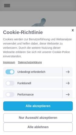 Vorschau der mobilen Webseite www.siegen-krankengymnastik.de, Praxis für Krankengymnastik Kathleen Grabowitz