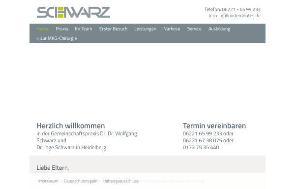 Vorschau von www.kinderdentes.de, Gemeinschaftspraxis Dr. Dr. Wolfgang Schwarz und Dr. Inge Schwarz