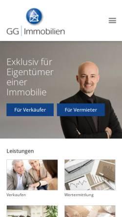 Vorschau der mobilen Webseite www.gg-immobilien.de, GG Real Estate e.K.
