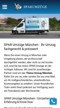 Vorschau der mobilen Webseite www.sparumzuege.de, SPAR Umzüge München