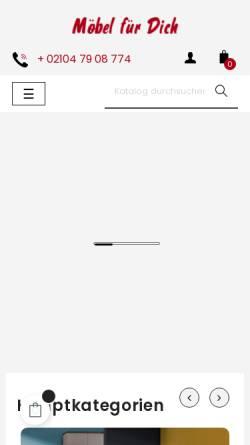 Vorschau der mobilen Webseite www.moebel-fuer-dich.de,