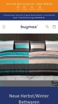 Vorschau der mobilen Webseite www.buymax.de, BUYMAX