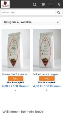 Vorschau der mobilen Webseite www.mein-tee24.de, Mein Tee24