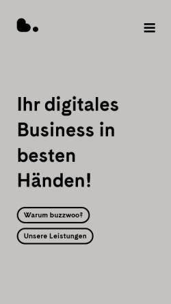 Vorschau der mobilen Webseite www.buzzwoo.de, Buzzwoo!