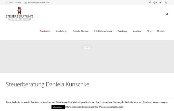 Vorschau von www.kunschke.com, Steuerberatung Daniela Kunschke
