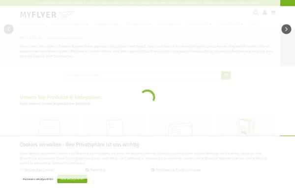 Vorschau von www.myflyer.de, myflyer GmbH