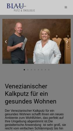Vorschau der mobilen Webseite www.blauputz-oekologie.de, Blau Putz & Ökologie, Inh.: Klemens Blau