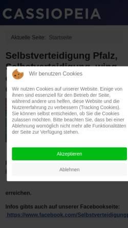 Vorschau der mobilen Webseite www.selbstverteidigung-pfalz.de, Selbstverteidigung Pfalz