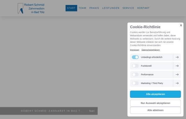 Vorschau von www.zahnarzt-robert-schmid.de, Zahnarztpraxis Robert Schmid