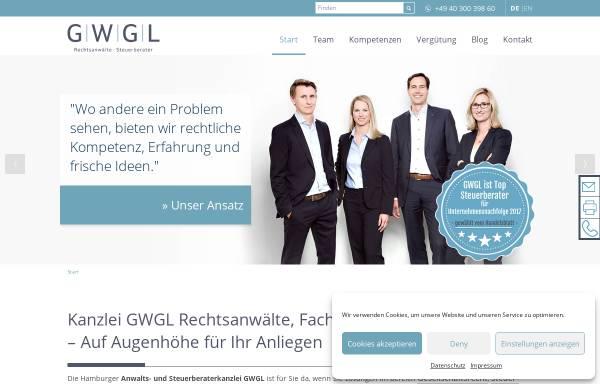 Vorschau von www.gwgl-hamburg.de, GWGL Kanzlei Rechtsanwälte und Steuerberater